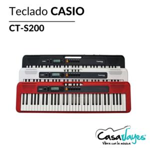 Teclado Casio CT-S200 con adaptador