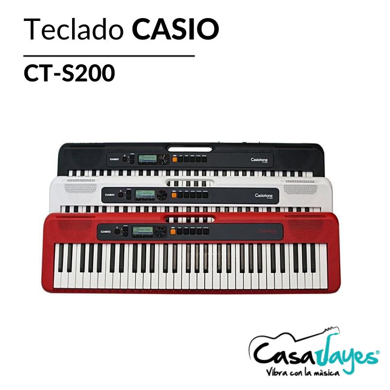 imagen publicitaria_Teclados CASIO CT-S200