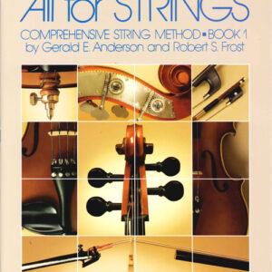 All For Strings Libro 1 - Método Para Viola - Inglés