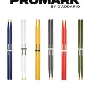 Baqueta Promark 5BW TX5BW-Colores SurtidosBaqueta clásica Hickory promark tw5bw